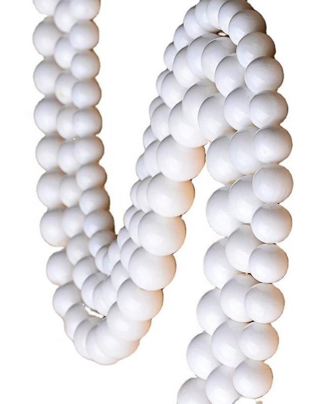Natural White Tridacna Natural White Tridacna Round Beads