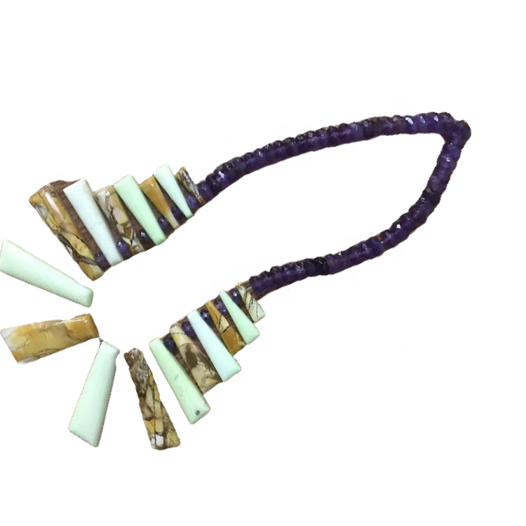 Turquoise Beaded Necklace Dainty Necklace Handmade Jewelry