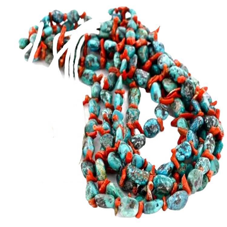108 pumpkin Buddha beads make highest quality turquoise necklace jewellery