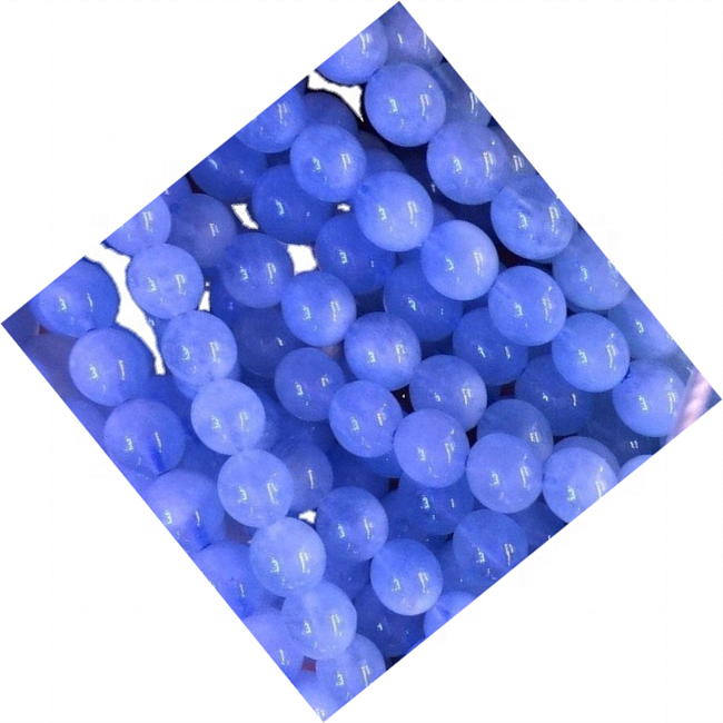 Natural Aquamarine round beads High quality light blue color DIY jewelry beads milky light blue gemstone