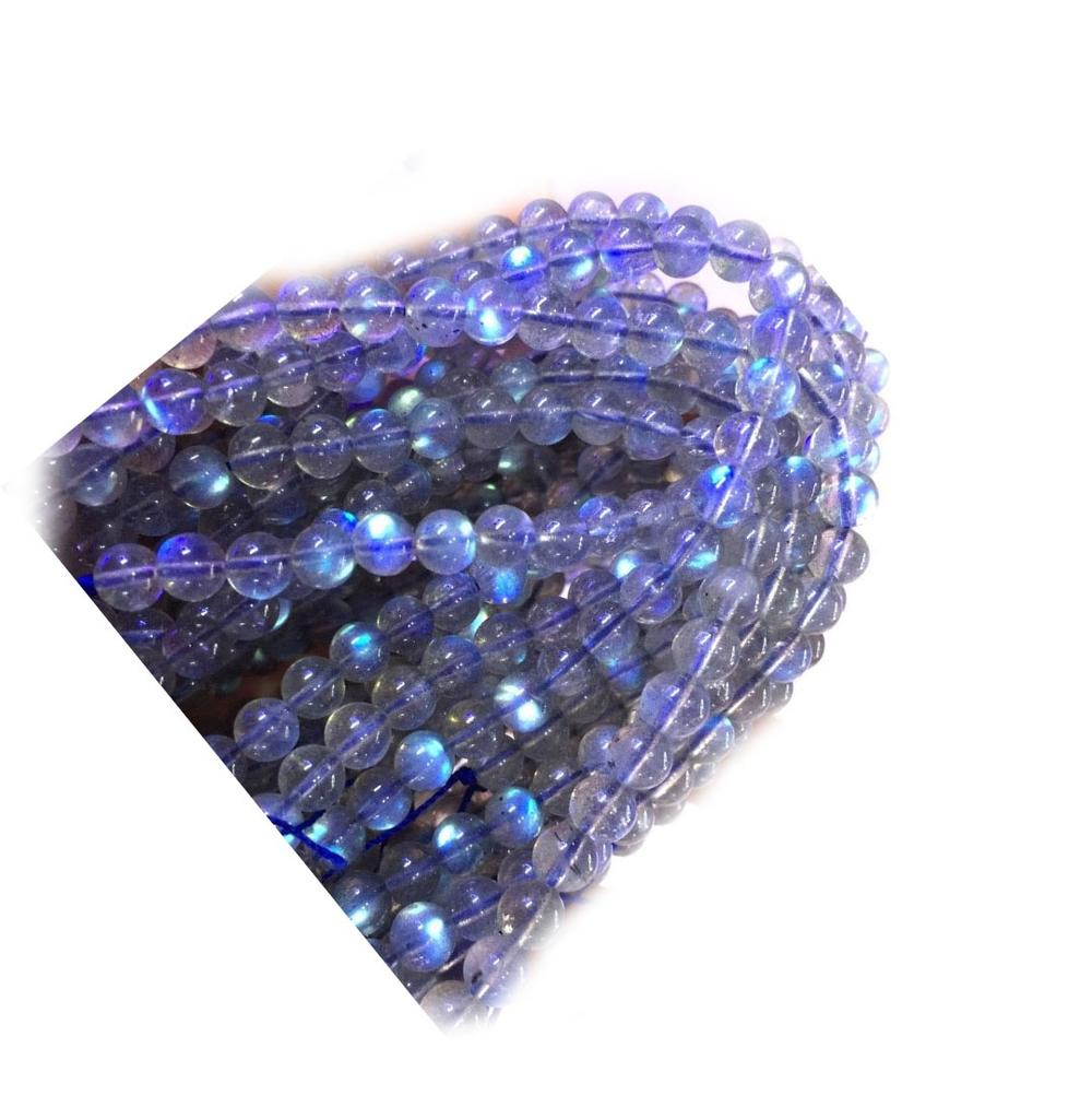 Natural Labradorite Round beads natural blue flash labradorite bead
