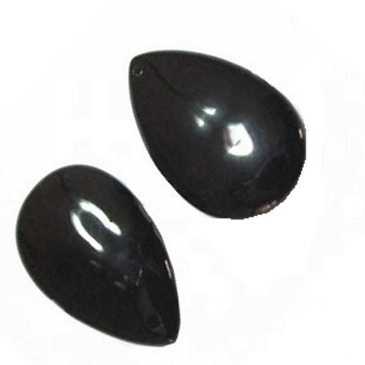 Black Onyx pear cabochon Black Onyx Cabochon natural pear shape Gemstone