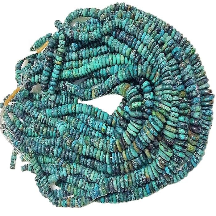 Naturally Turquoise Rondel Beads jewelry high quality full strand