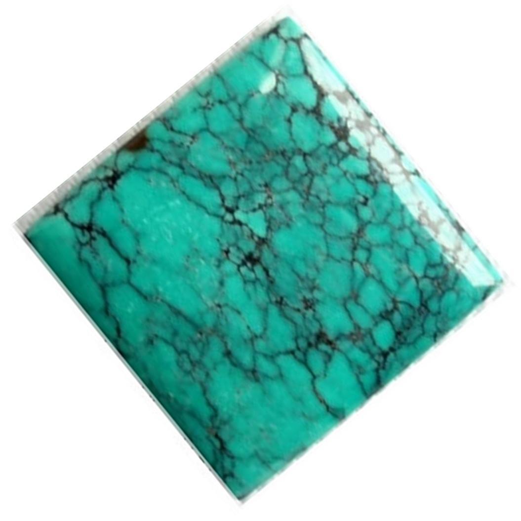 Tibetan Spiderweb turquoise Cushion cabochon Designer Cabochon Gemstone jewelry