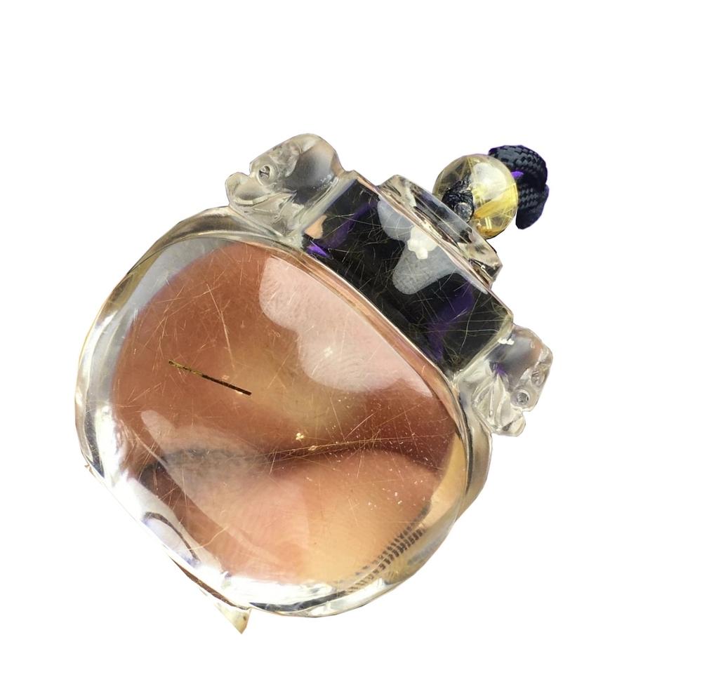 Natural Phantom Quartz Pendent Quartz Crystal Specimen Crystal healing