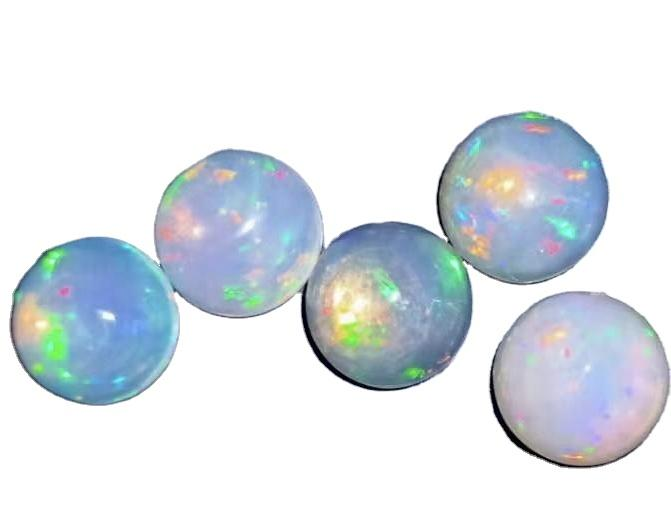 7 mm Oval Shaped Opal  Gemstone Cabochons Colorful Opals