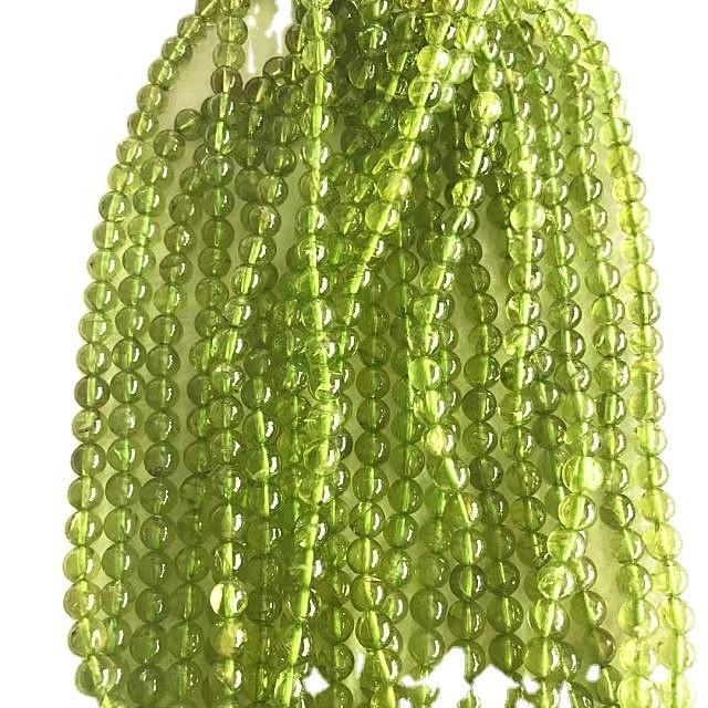 Natural Peridot round  shape beads  Green  gemstone strings
