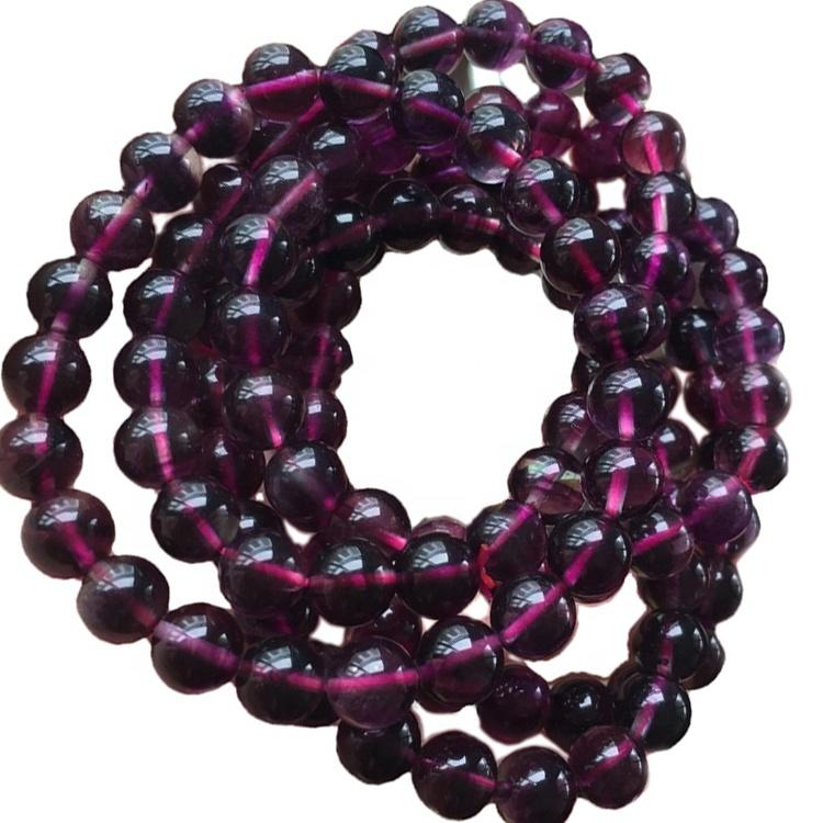 Natural Loose Gemstone Colorful Fluorite Round Beads 16inch