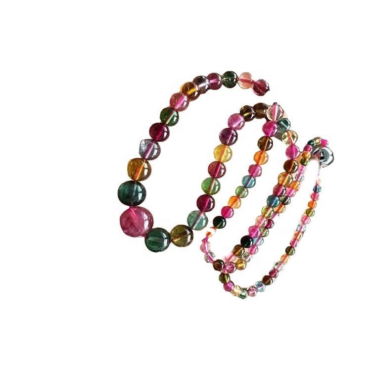 Natural tourmaline necklace gemstone make wholesale