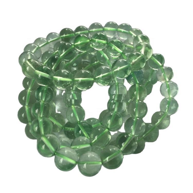 Natural polished Purple Fluorite gemstone beads  round beads