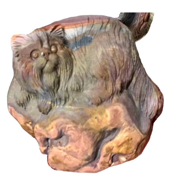 Well polish carved Monkeys animal stone/Owl/Carved Lynx stone