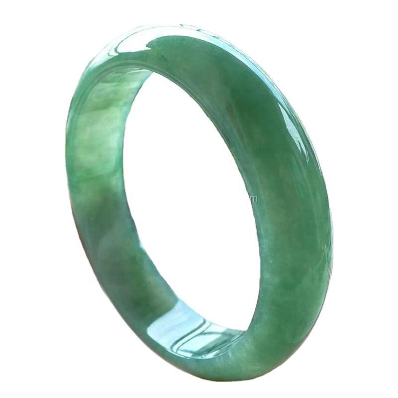 Female Emerald gemstone bangle jewelry 100% High Quality Natural Myanmar Green Jade Bracelets Lady Pure Emerald