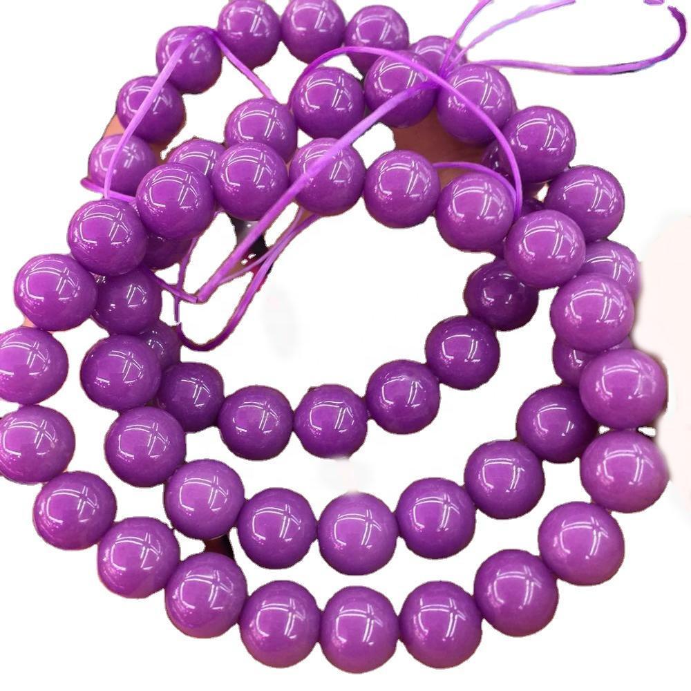 Imported from USA purple Phosphosiderite bracelets 100% naturally round beads Phosphosiderite bracelets