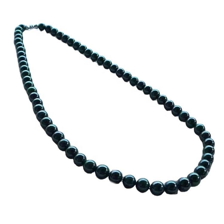 Emerald round beads necklace jewellery