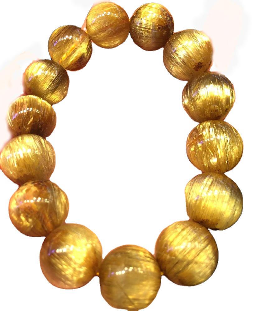 Hot Sale Natural higher quality Golden Rutilated Bracelet Crystal Energy Bracelet Wholesale