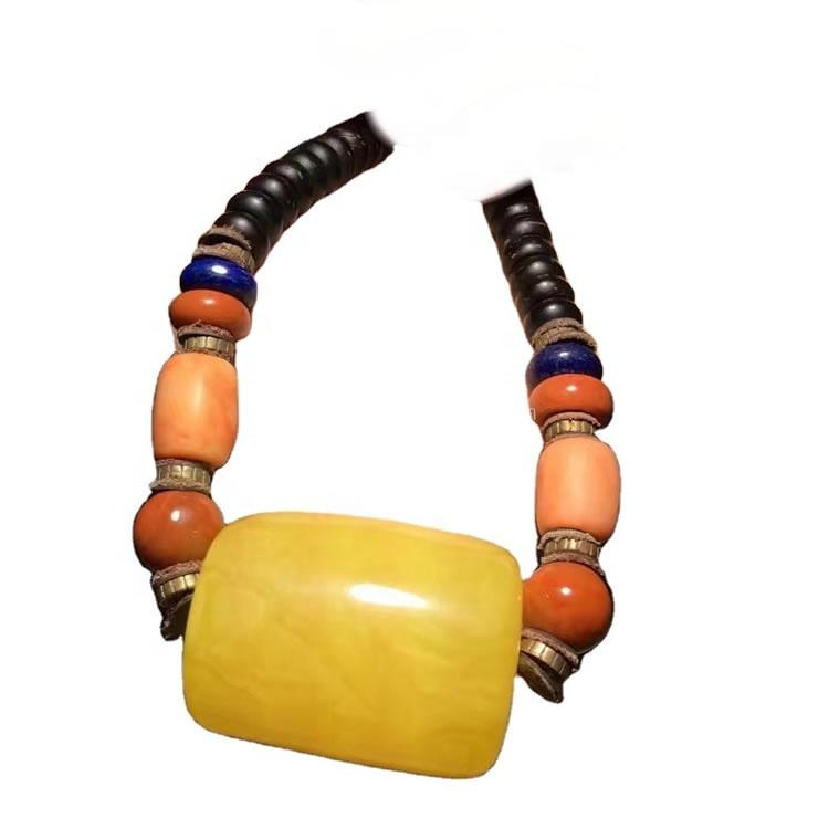 Fashion high quality amber necklace for man and woman jewelry