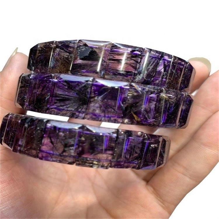 Hot-sale Wholesale Natural sugilite bangle faceted Gemstone Bracelets
