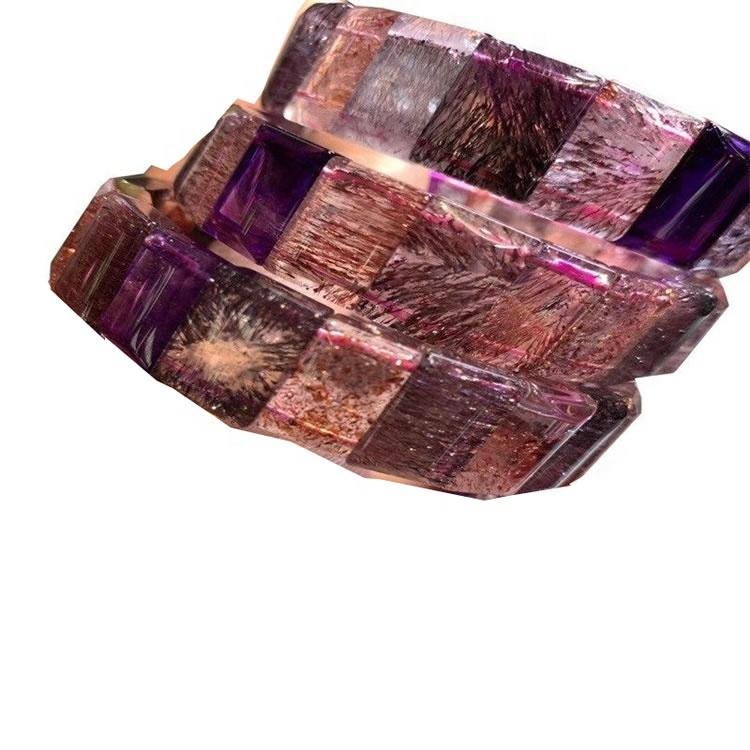 Wholesale  100% off  Natural Sugilite faceted Gemstone Bangle Bracelets