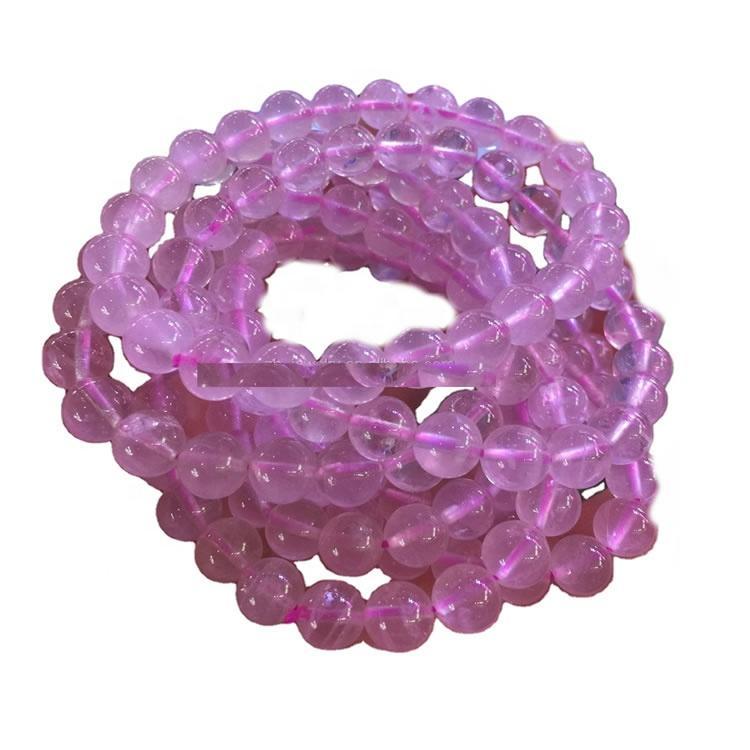 Natural Rose Quartz Pink Crystal Stone Beads Handcraft Bracelets/Make jewelry natural beads