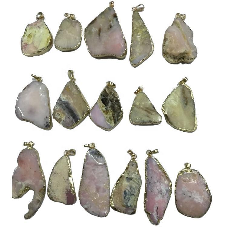 free shape different size agate gemstone silver pendants hot-sale