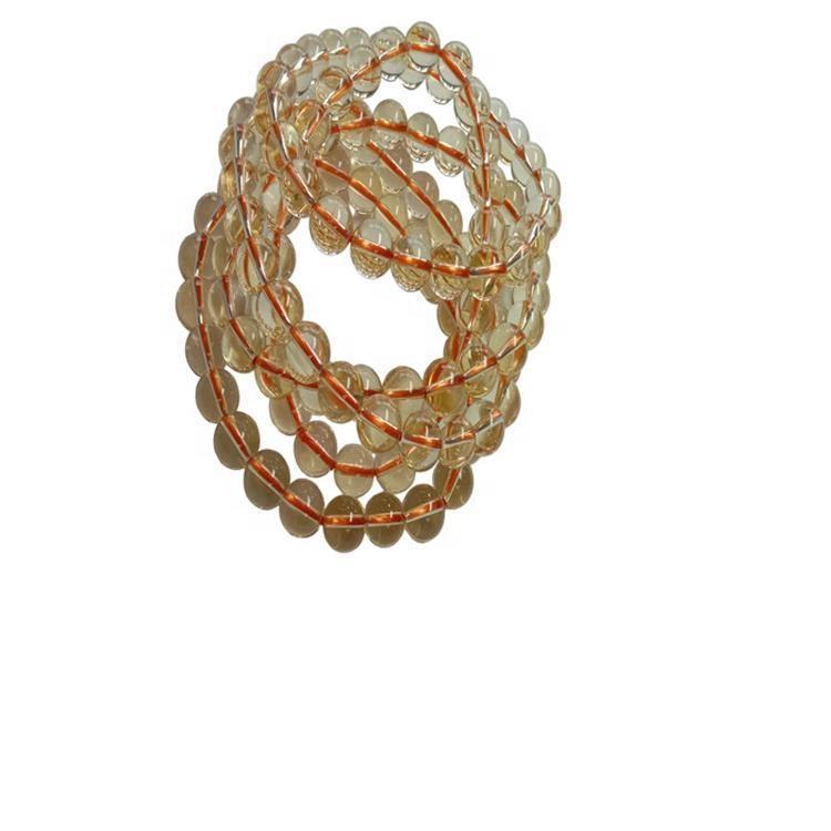 Hot-sale Genuine Natural Citrine Beads Bracelet Stretch Round Beads Gemstone Fashion Jewelry