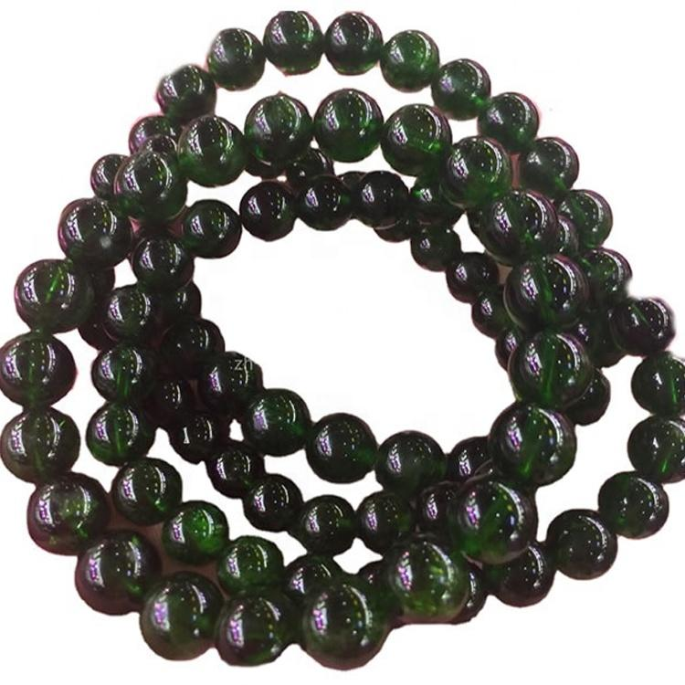 Low price loose natural round beads Diopside gemstone hot-sale