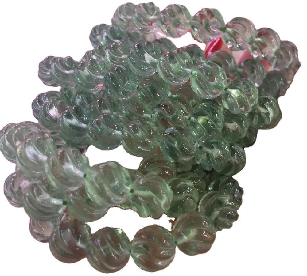 10 Breaths Bracelet Matte Rainbow Fluorite Motivational/Inspirational/Meditation/Calm/Relax