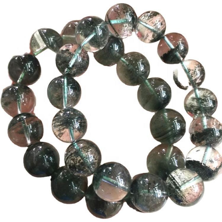 Green Quartz different size Bracelet jewelry Natural Green Rutilated Quartz Round Bead