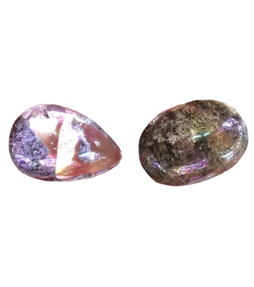 Natural Ghost Phantom Quartz Crystal Stone Pendant Gems Specimen Healing Pendant Jewelry Accessories