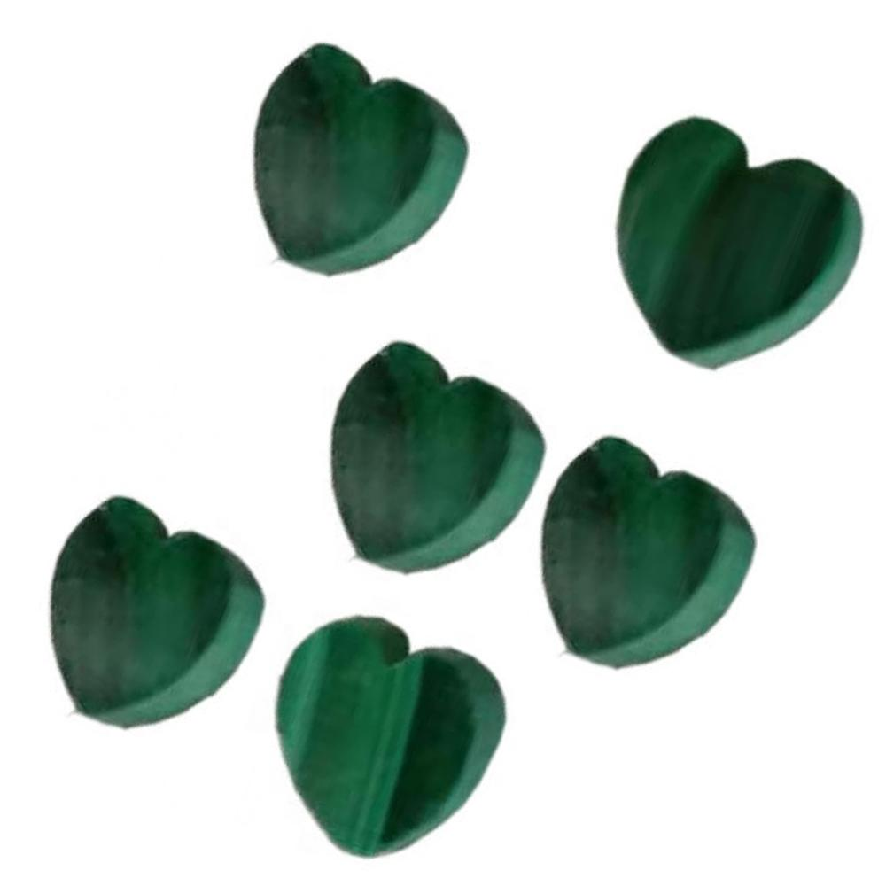 Natural Malachite heart shape cabs Malachite Cabochon Loose Gemstone