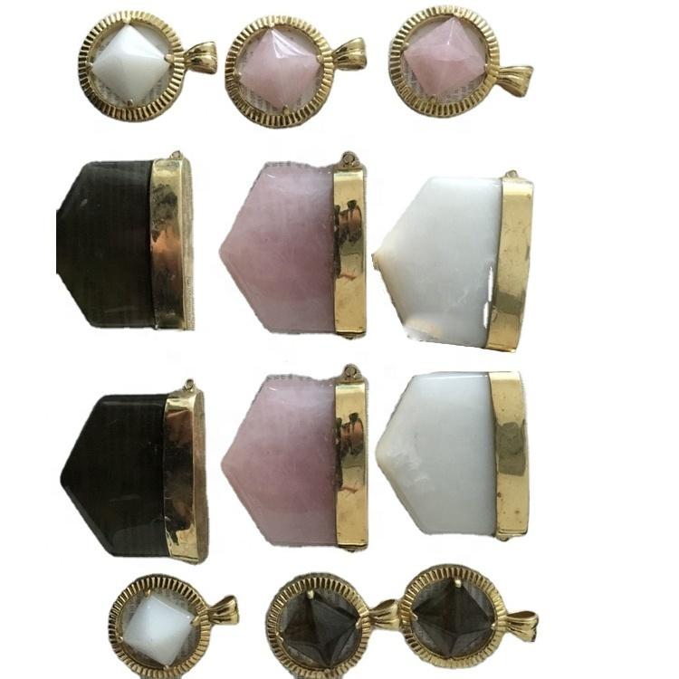 shape different size agate gemstone pendants hot-sale