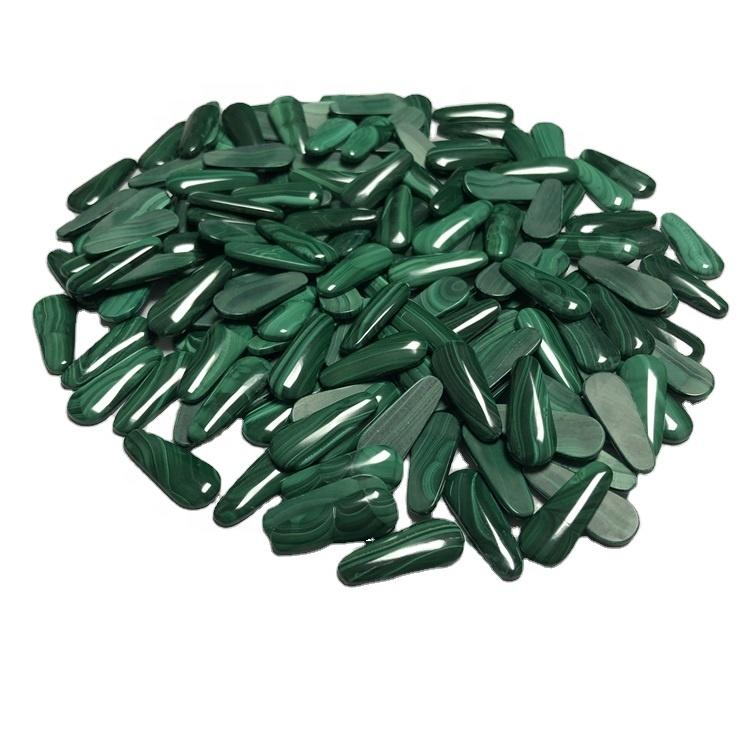 AAA Quality Natural Malachite Cabochon Loose Green Malachite Oval For Jewelry Making