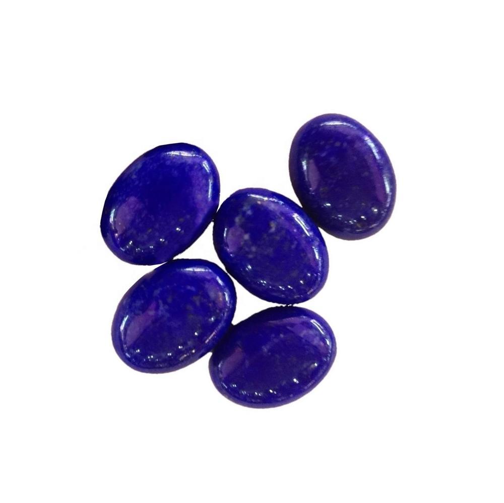 100% Natural Top Quality Lapis Lazuli Cabochon Lapis Lazuli Loose Stone Hand Polish Gemstone Oval Shape
