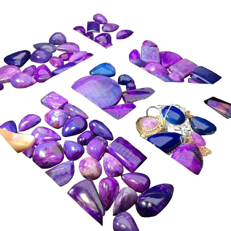 Top Quality Sugilite Cabochons Sugilite Loose Stone Sugilite Hand Polished Gemstone