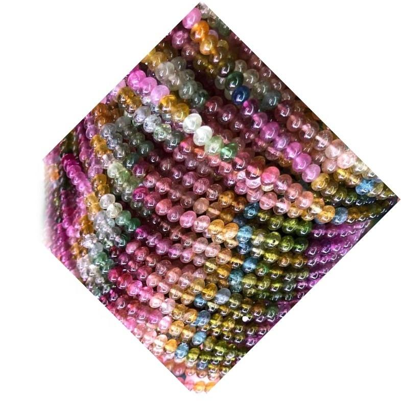 Wholesale natural loose gemstones Tourmaline round beads for bracelets making