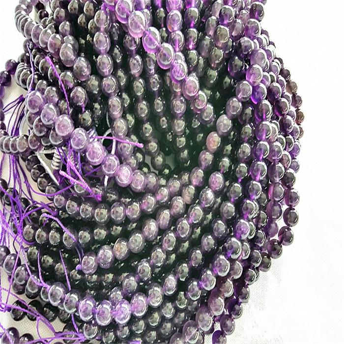 Natural Amethyst Round beads Energy Gemstone Loose Beads for Jewelry Making