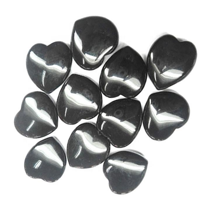 Heart Cabochon Heart Stone Natural Black onyx Heart Shape Cabochon Gemstone