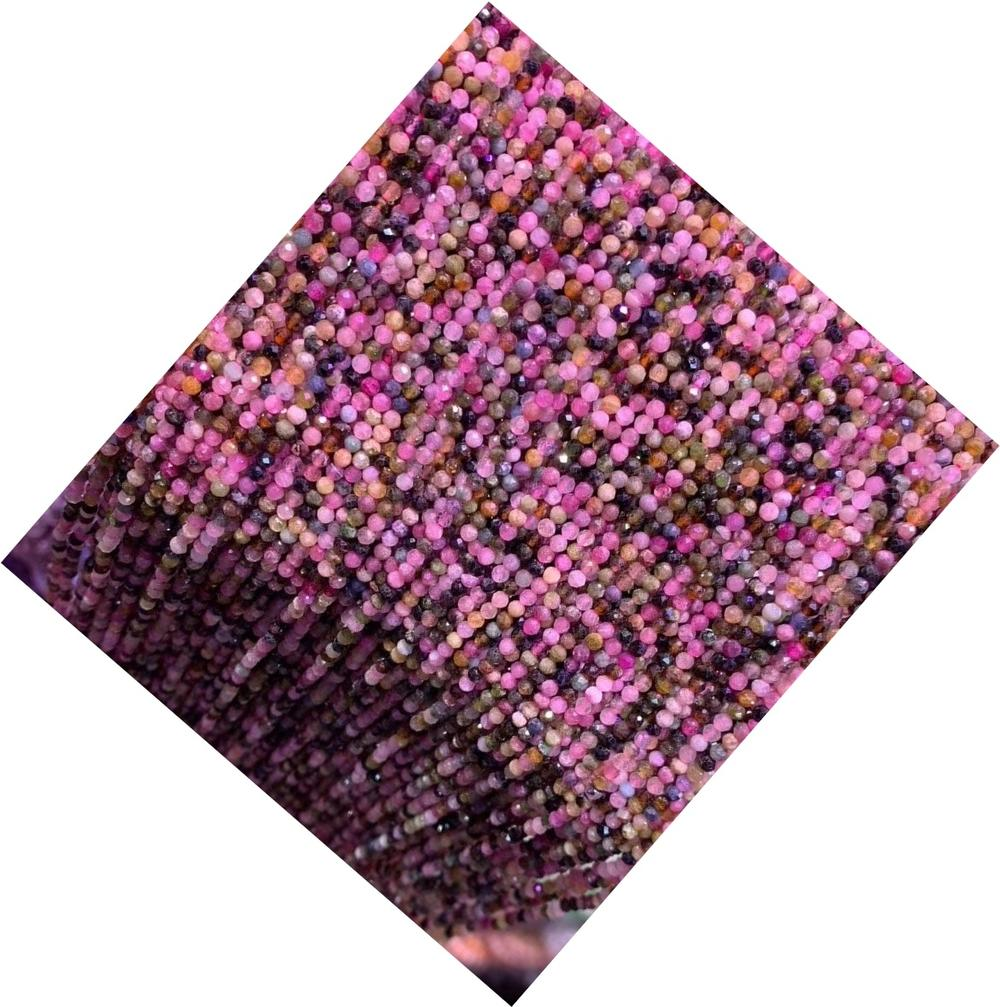 Multi Tourmaline Faceted Rondelle Beads High Quality loose Gemstone beads