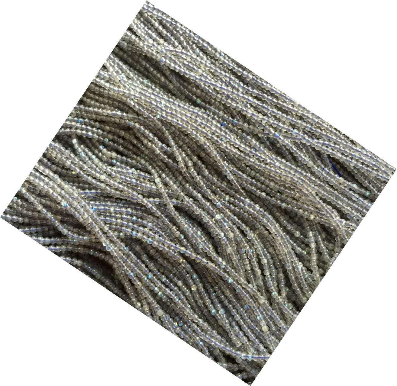 Labradorite Gemstone Blue Flash Grade 3A 4mm 5mm 6mm 7mm 8mm 9mm 10mm 11mm 12mm Round Loose Beads Full Strand