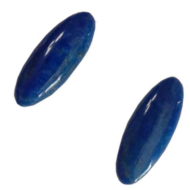 Lapis Lazuli Gemstone Cabochon Pair Natural Stone Matched Pair Gems Cab