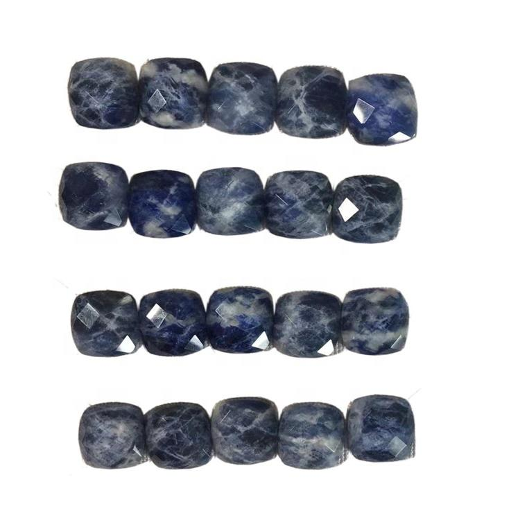 Faceted Square Sodalite Cabochon Jewelry Making Supplies loose gemstone