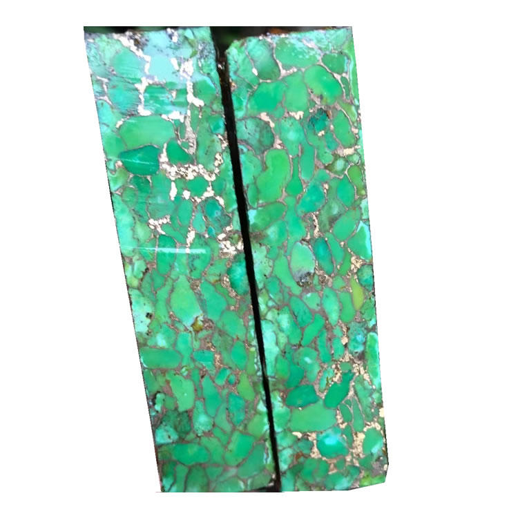 Mohave Green and Bronze Block /Cabochon making/Lapidary/Arizona turquoise