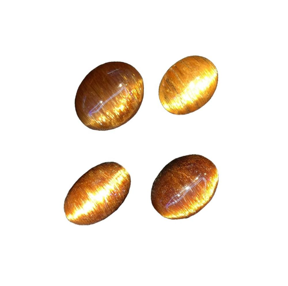 Natural Top Grade Quality Copper Rutile Quartz Oval Shape Cabochon Gemstone