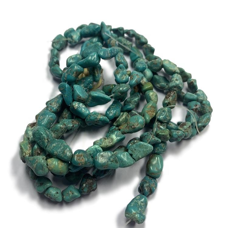 Genuine Turquoise Nugget Gemstone Loose Bead 16\'\' Strings for Jewelry making
