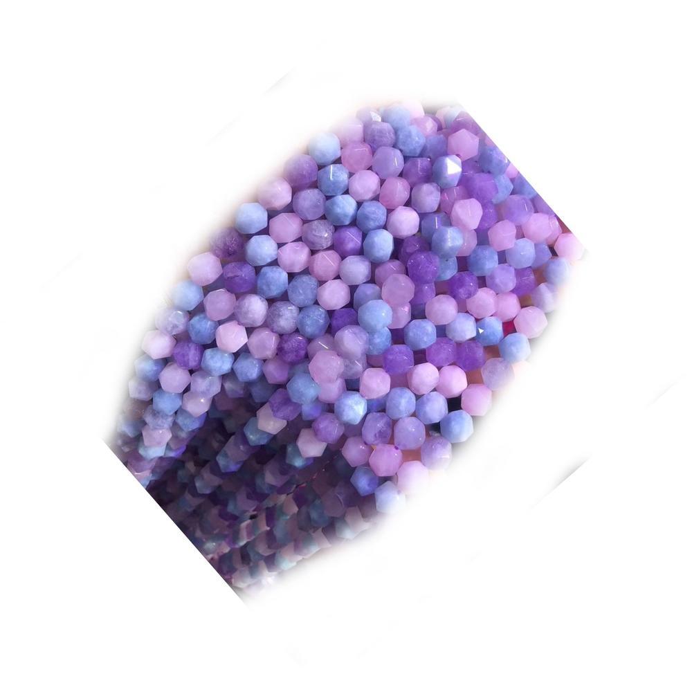 Multicolor Beryl Morganite Aquamarine Beads Grade 3A Genuine Natural Faceted Cube Gemstone Loose Beads