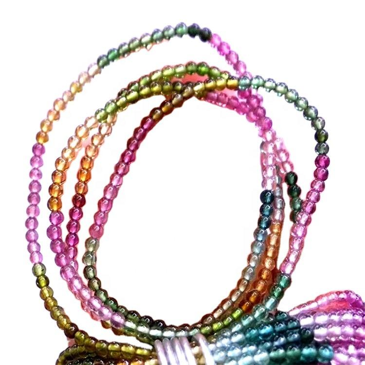 Natural Pink Tourmaline 6mm 8mm 10mm Smooth Round Beads Genuine Loose Gemstone Tourmaline 16\