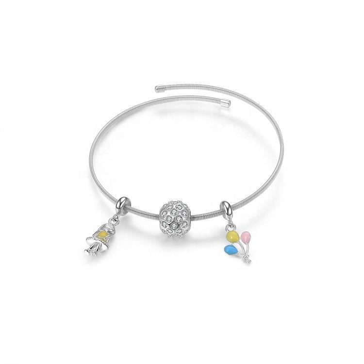 Good quality and low price charms bangles