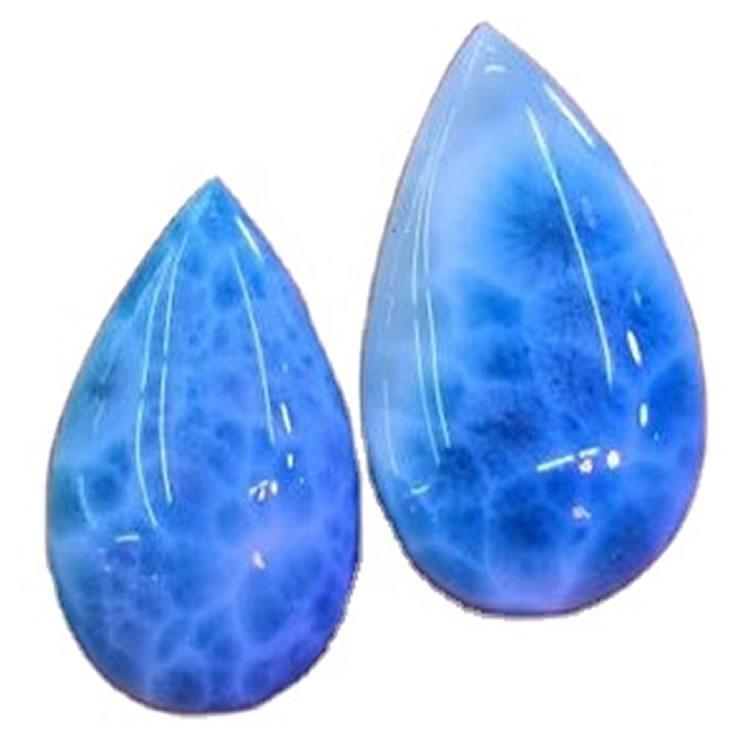 Larimar Pear Cushion Cabochon Larimar Gemstone Fancy Cabochon atural Loose Semi Precious Gemstone Jewelry Making Cabs
