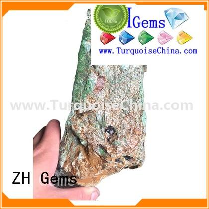 ZH Gems top quality raw turquoise supplier for jewellery making