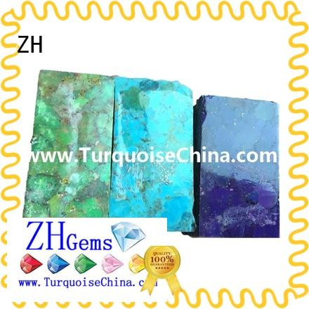 ZH rough turquoise supplier for bracelet